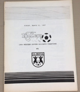 California kickers Seattle FC 1987 Program