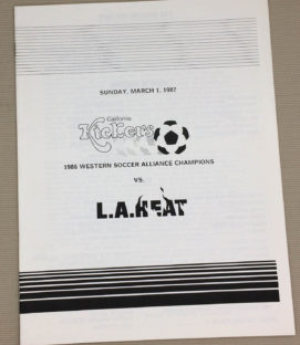 California kickers LA Heat 1987 Program