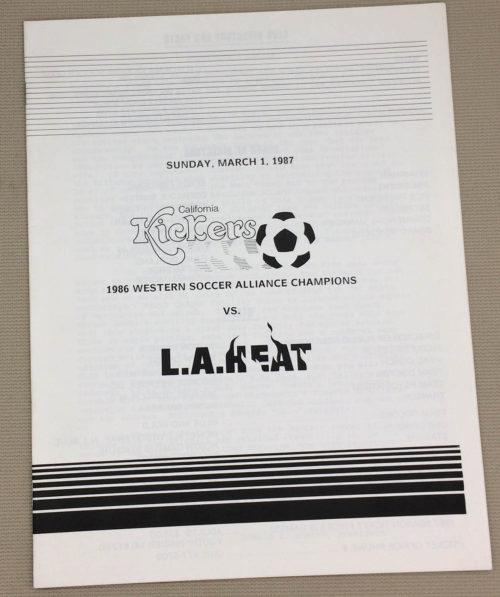 California kickers LA Heat 1987 Program