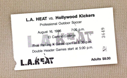 LA Heat Hollywood Kickers 1986 Ticket