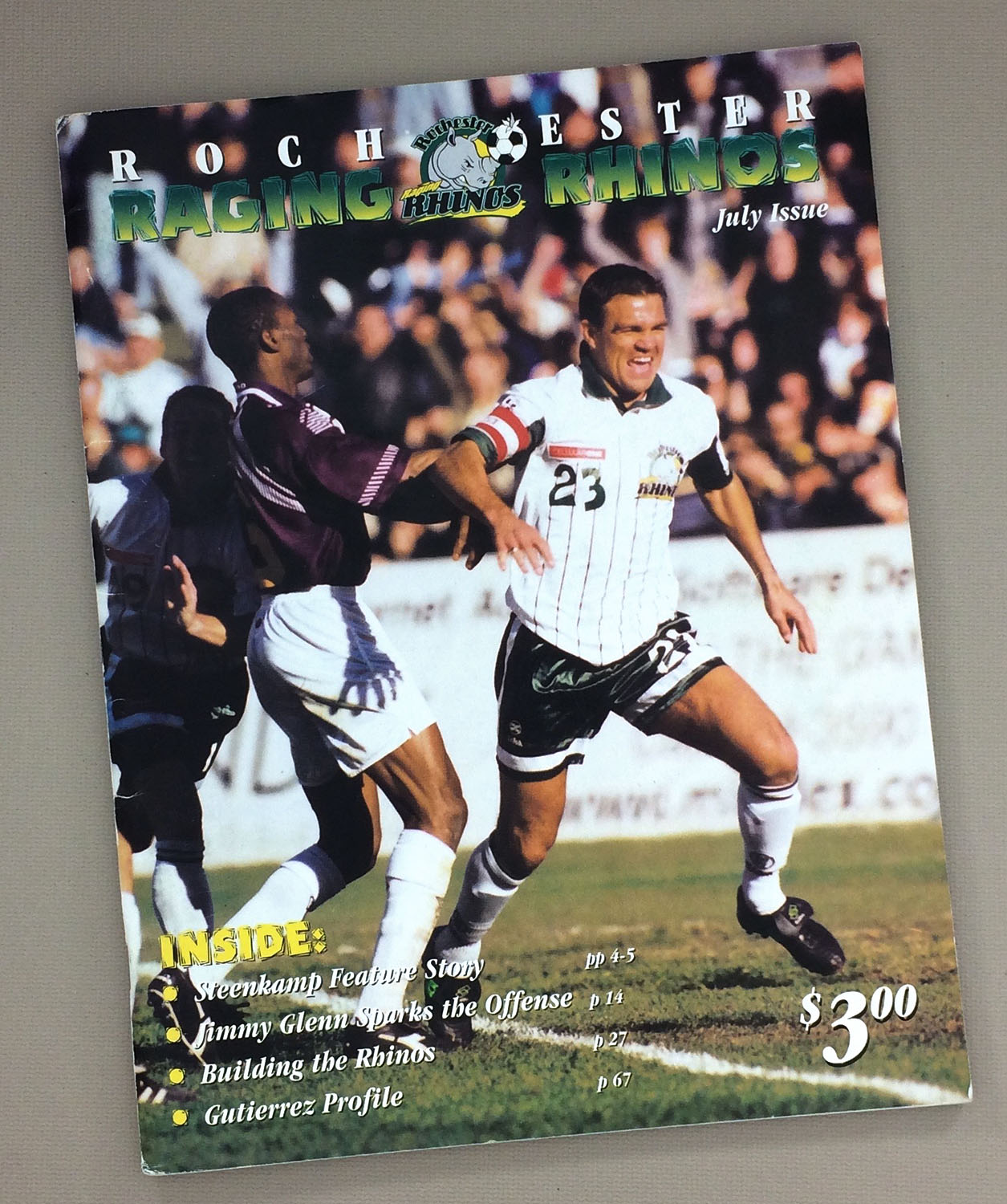 Rochester Raging Rhinos 1997 Program
