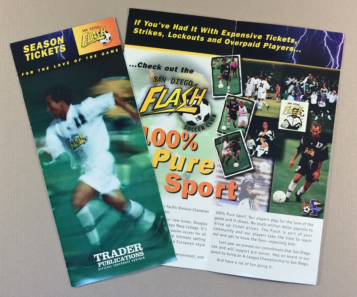 San Diego Flash 1999 Ticket Brochure