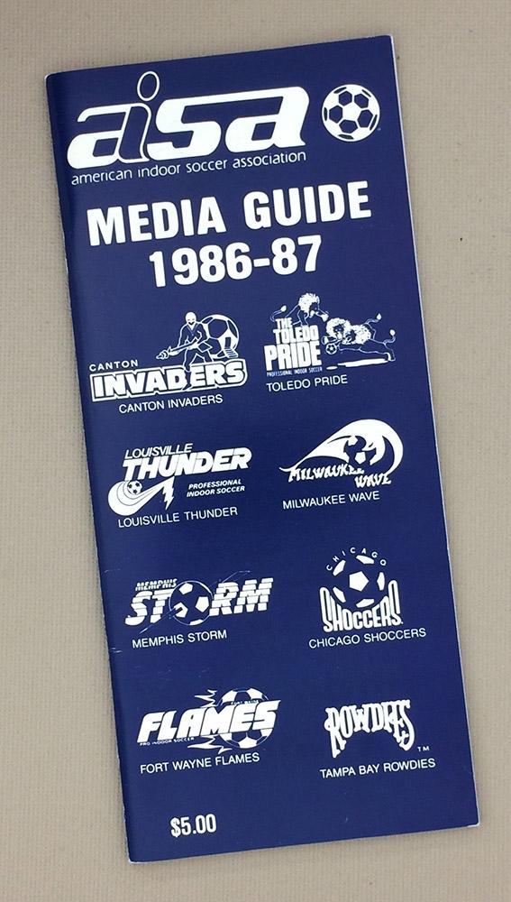 American Indoor Soccer Association (AISA) 1986-87 Media Guide