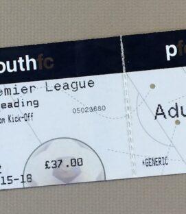 September 29th, 2007 Portsmouth vs Reading Ticket Stub