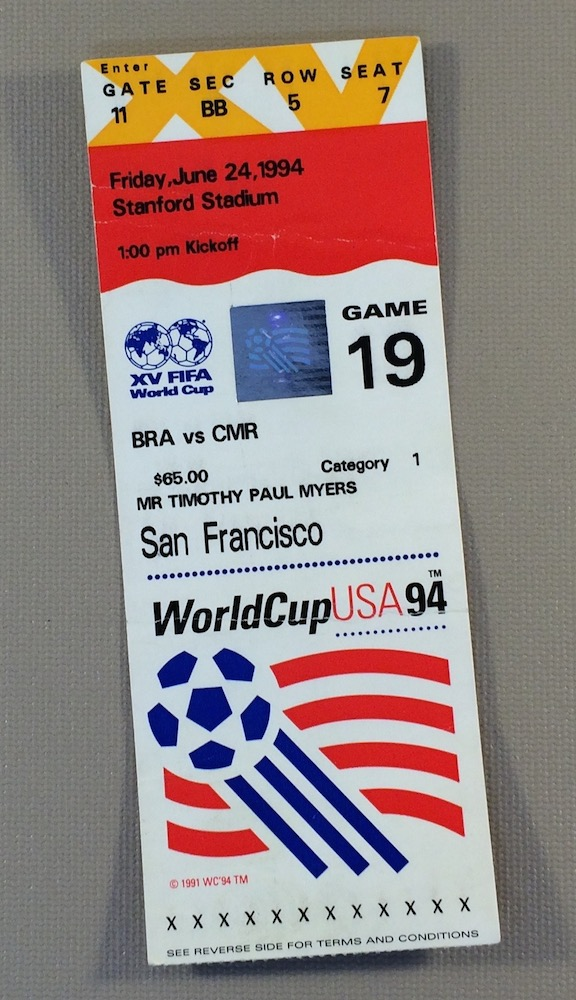 World Cup '94 Brazil vs Cameroon Ticket Stub