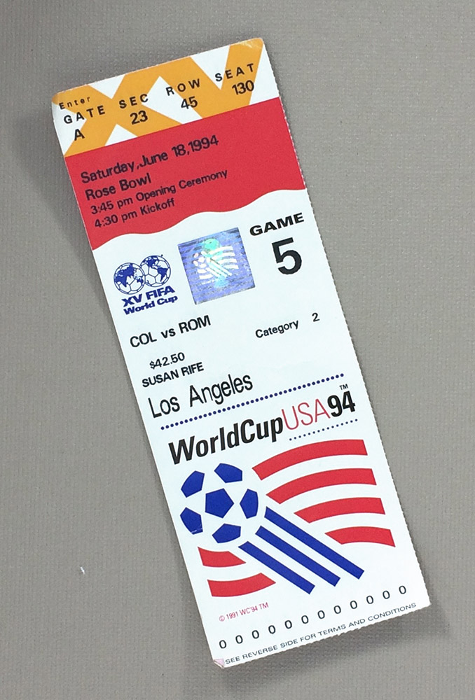 World Cup '94 USA vs Colombia Ticket Stub