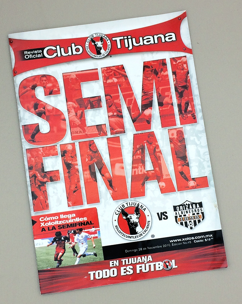 2010 Tijuana Xolos Playoff Game Program