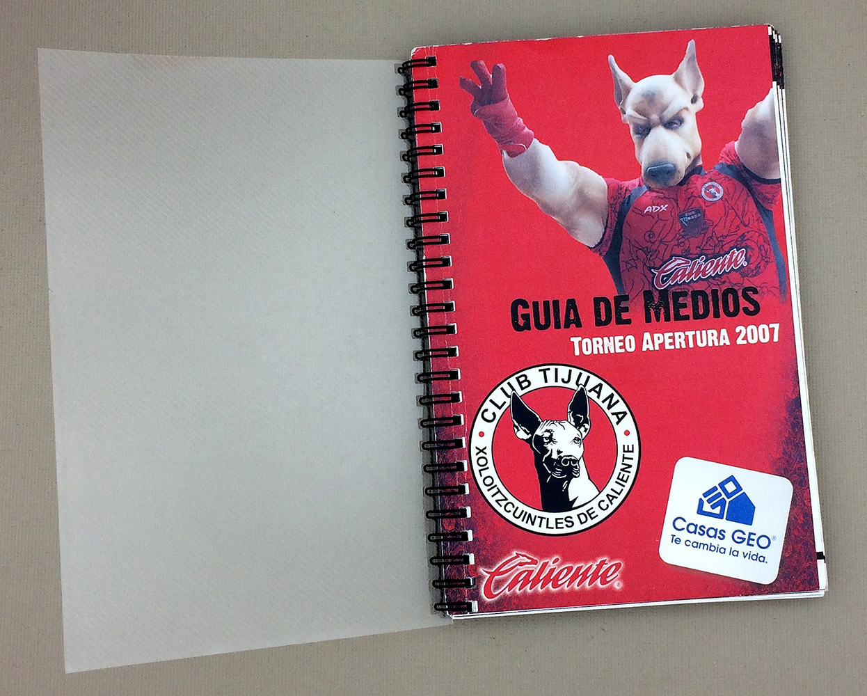 Tijuana Xolos Inaugural 2007 Media Guide