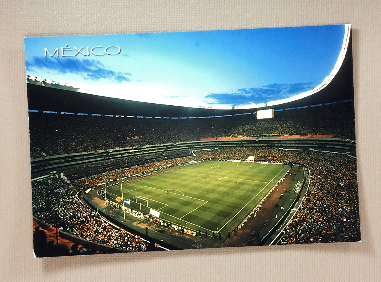 Estadio azteca postcard for Puerta 1 estadio azteca