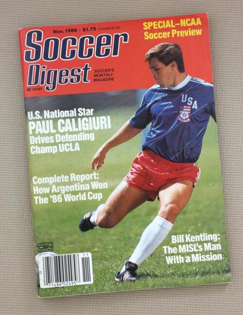 Soccer Digest November 1986