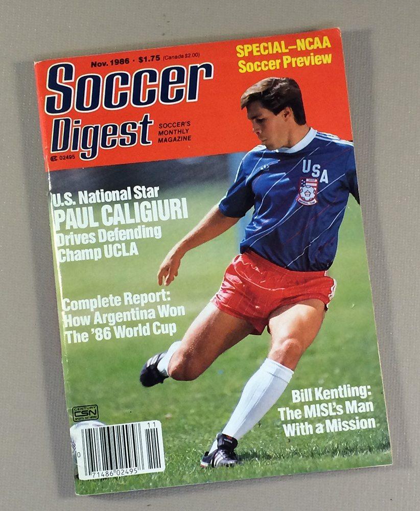 Soccer Digest November, 1986