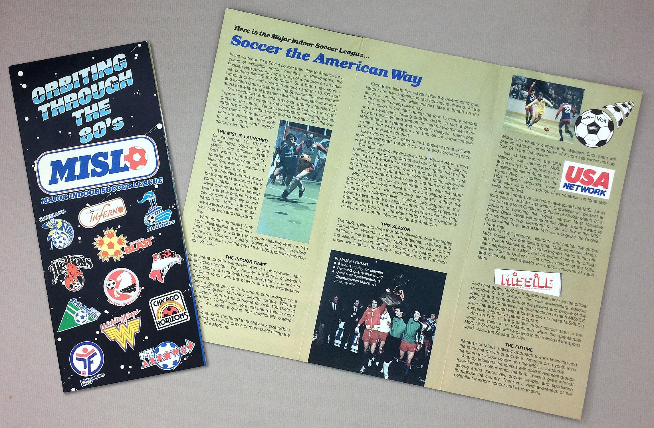 Major Indoor Soccer League 1980-81 Brochure