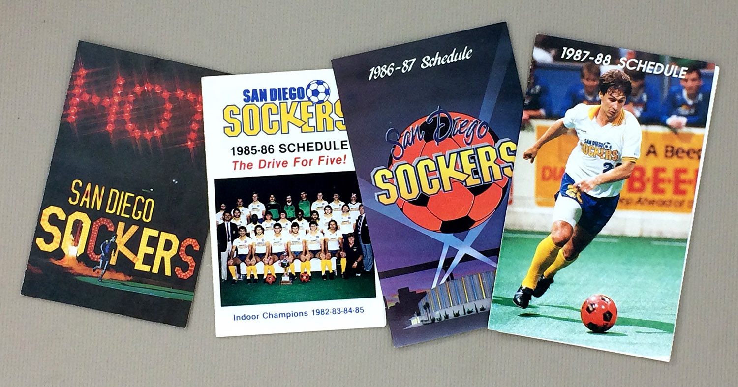 San Diego Sockers 1980s Schedule Set