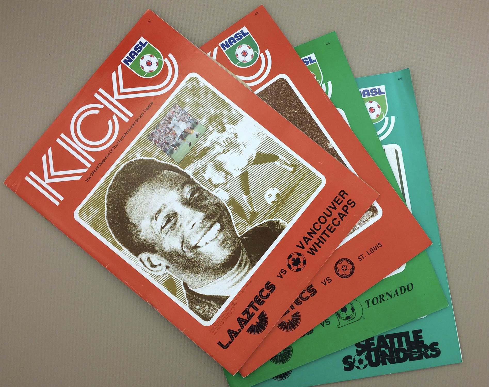 Los Angeles Aztecs 1976 Program 4 Pack