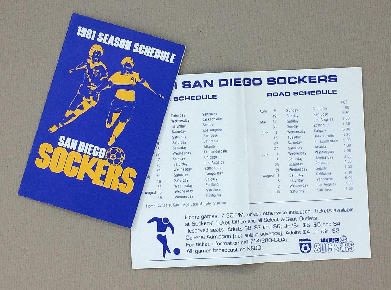 San Diego Sockers 1981 Schedule