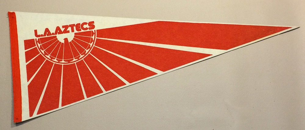 1975 LA Aztecs Team Pennant
