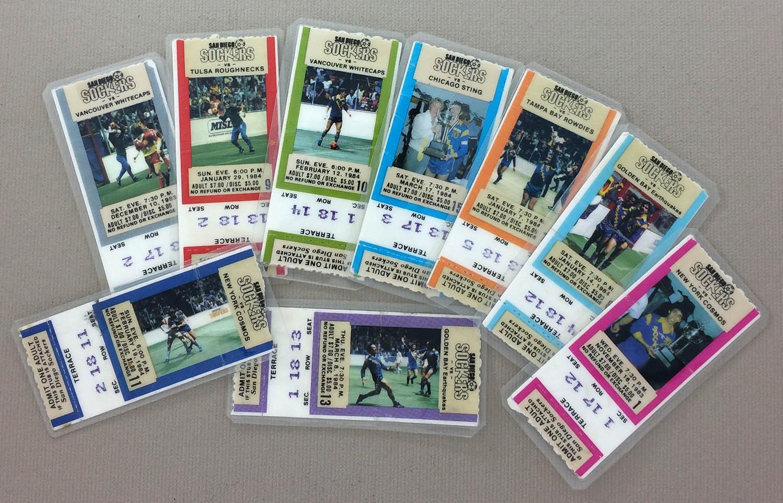 San Diego Sockers 1983-84 Collectors Ticket Set