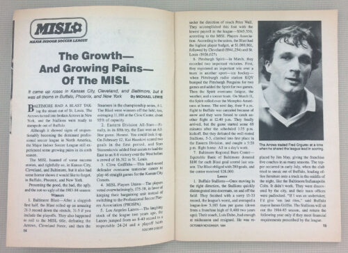 The Growing Pains of the MISL