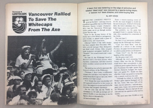 Vancouver Rallied to save the Whitecaps