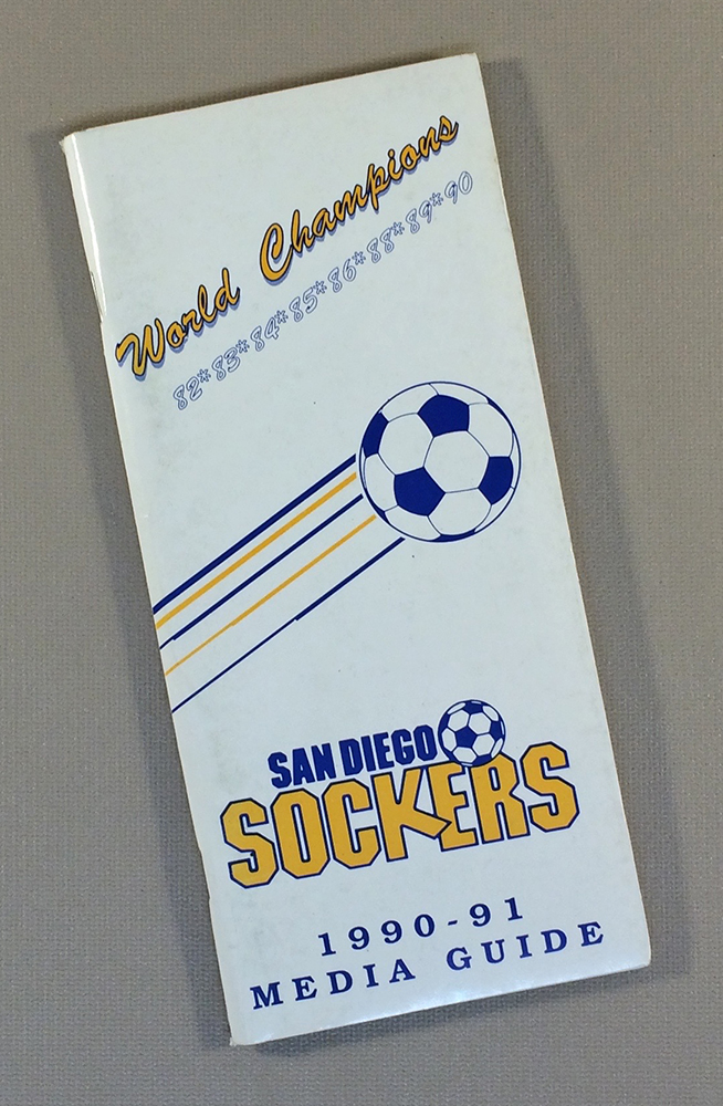 San Diego Sockers 1990-91 Media Guide