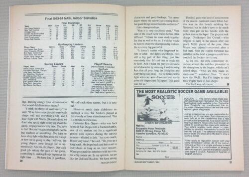 Final 1983-84 NASL Indoor Statistics