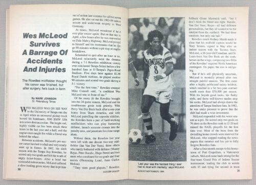 Wes McLeod Tampa Bay Rowdies