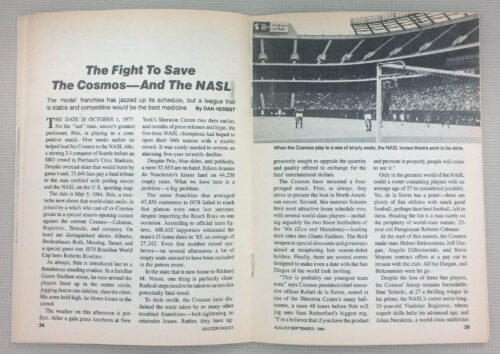 The fight to save the cosmos and the NASL