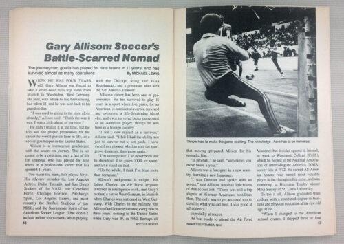 Gary Allison Soccer's battle scarred nomad