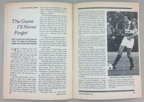 Bob Lenarduzzi The Game I'll Never Forget