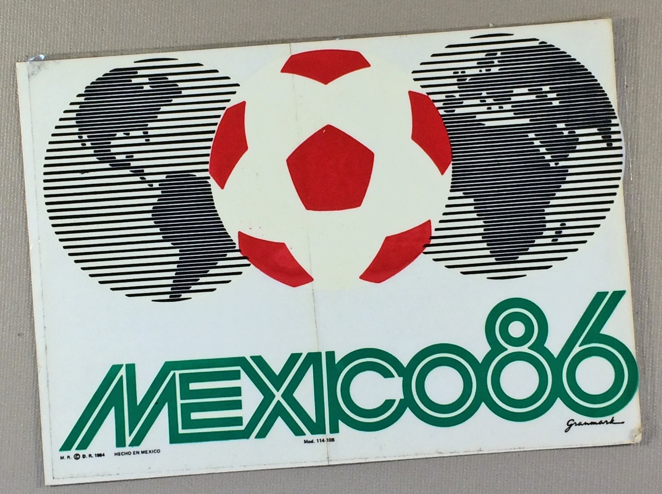 World Cup 1986 Decal
