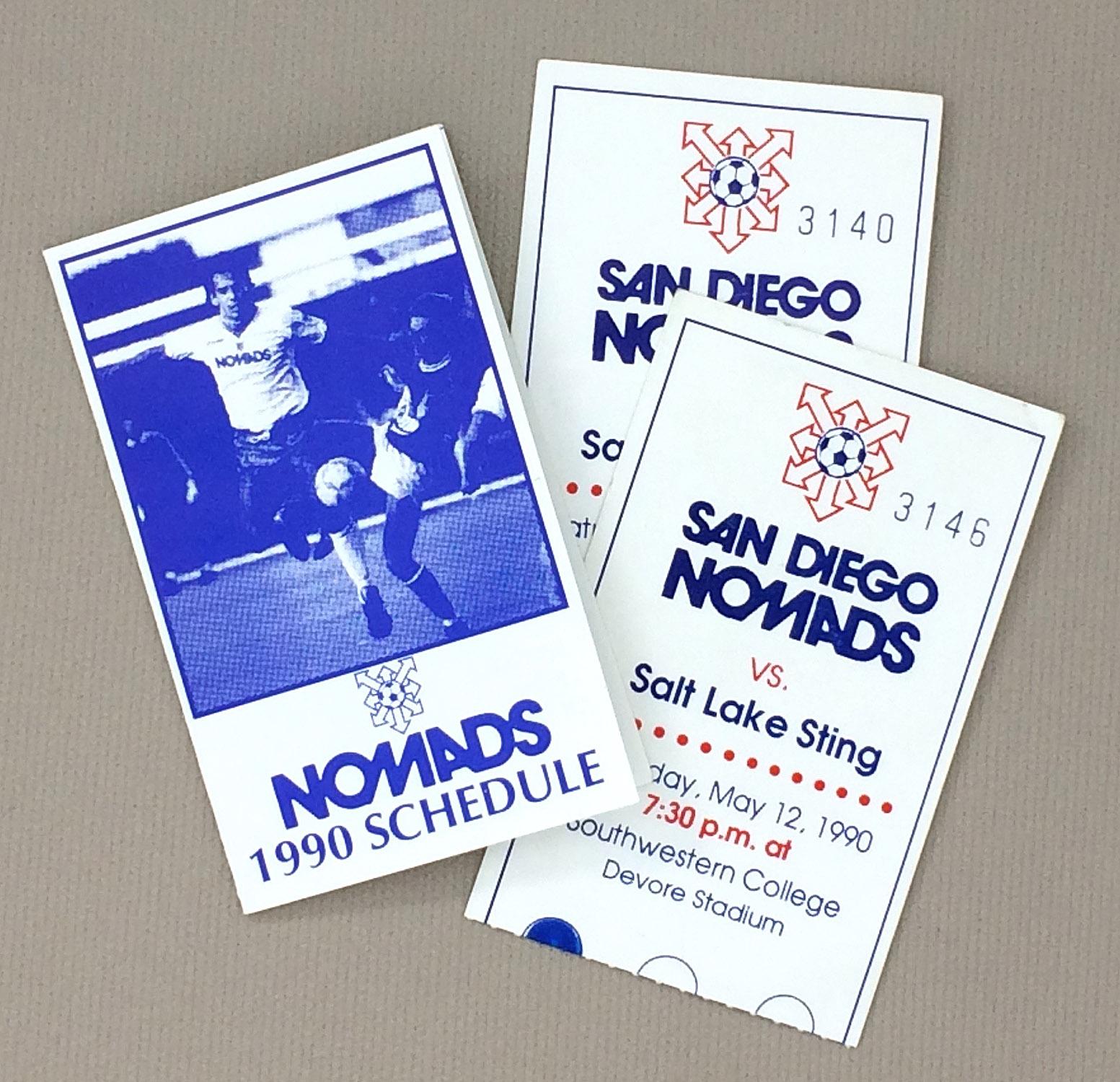 San Diego Nomads 1990 Schedule