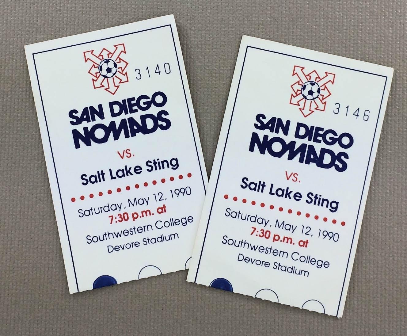 San Diego Nomads 1990 Tickets