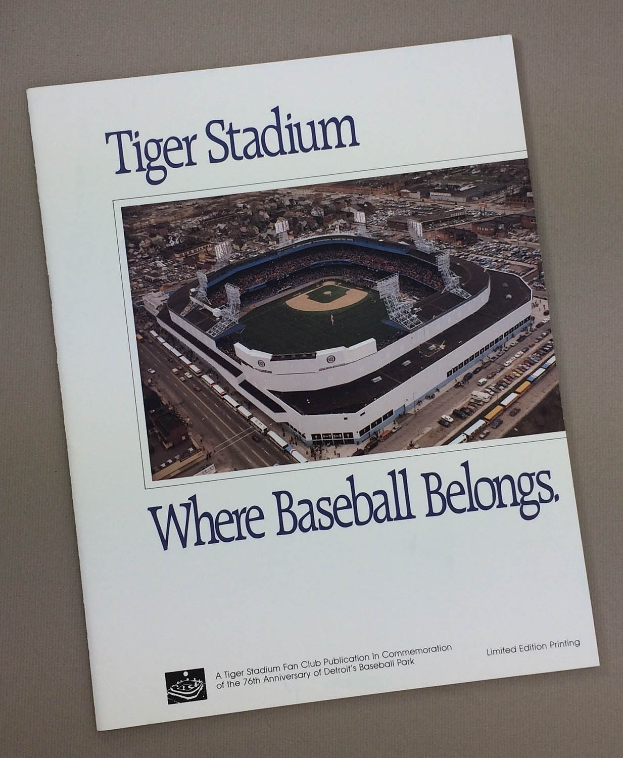 Tiger Stadium Commemorative Guide