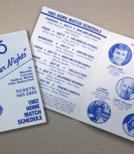 San Diego Friars 1982 Schedule