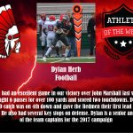 Recent PSH Athletes of the Week: Kailin Breedlove and Dylan Herb