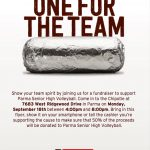 Support Redmen Volleyball tonight at Chipotle fundraiser. 50% goes to PSH.