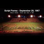 Throwback Thursday: The Pride of Parma: the Redmen Marching band performs script Parma; 1967