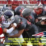 Redmen Football travels to Valley Forge on October 13th