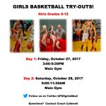 9th-12th Grade Girls Basketball Try-out Information