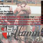 Former Wrestling Coach Pat Semary will be Honored at our Alumni Night Wrestling Match on January 11th vs. Valley Forge and Bay