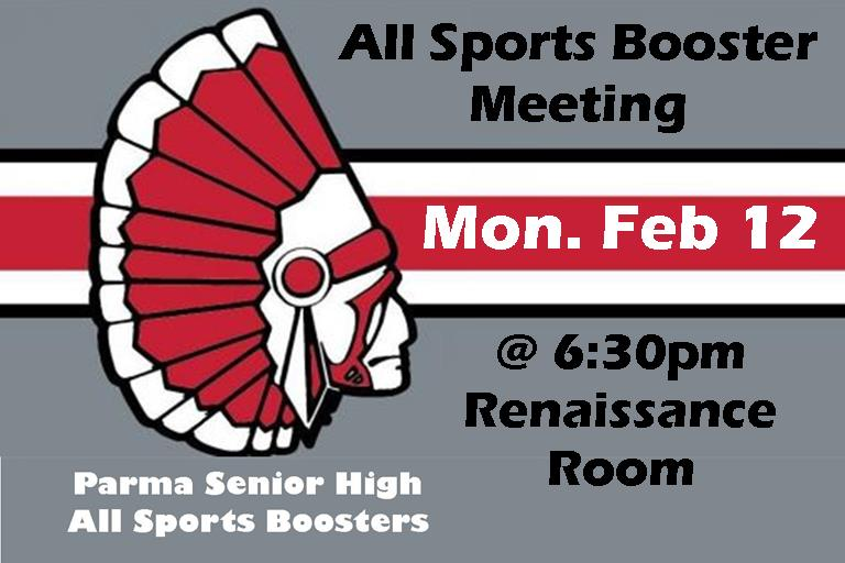 PSH All-Sports Booster Meeting Tonight at 6:30pm