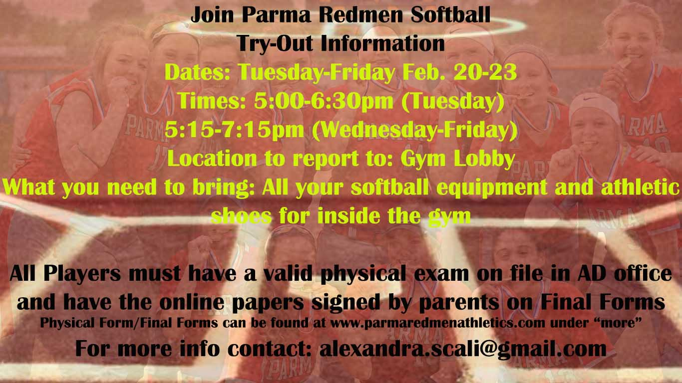 Join the Parma High Fast Pitch Softball Team