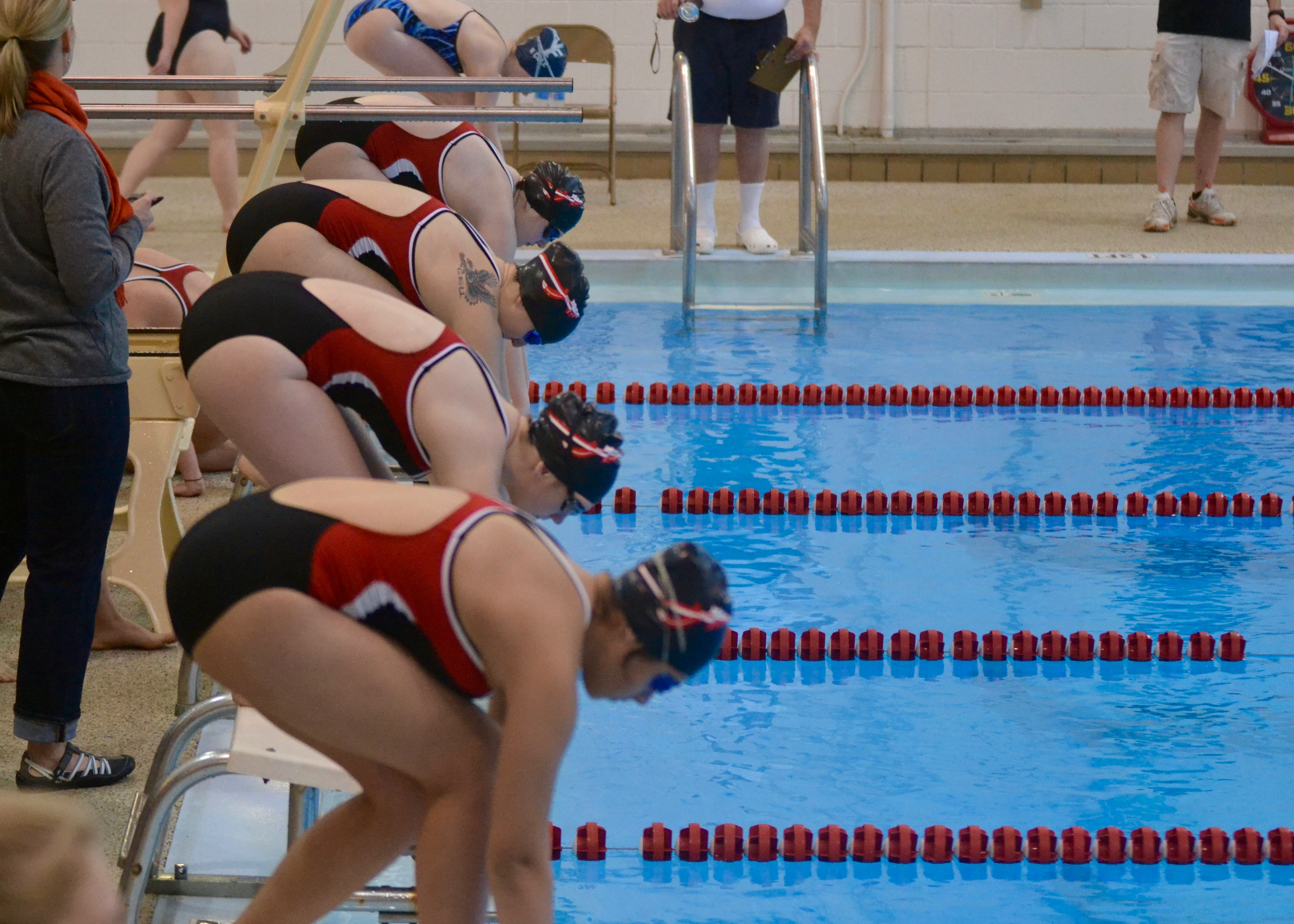 Meeting for all 9th-12th graders interested in Joining the Redmen Swim/Dive team on 9/7 at 7pm