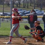 Redmen Softball Powered by Deutsch's 2 Run Blast Beats Bay 12-11; Jackson Gets Win in the Circle