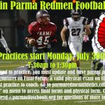 Join the Redmen Football Team!