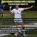 Join Redmen Girls Soccer!