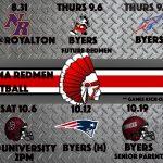 2018 Varsity Football Schedule