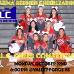 Redmen Cheerleaders Compete in the GLC Cheer Competition at Valley Forge Tonight at 6pm