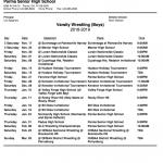 Wrestling: 2018-19 Meet Schedule
