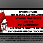 Spring Sports OHSAA Pre-Season Parent Meeting is on March 11th